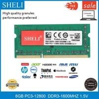 SHELI 8GB 1RX8 PC3 12800 DDR3 1600Mhz 204 pin 1.5v SODIMM Laptop Memory RAM