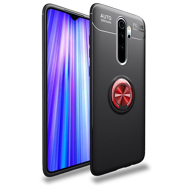 For Redmi Note 6 7 8 K20 K30 Pro Metal Invisible Ring Bracket Soft Case For Redmi 7 8 A Magnetic Absorption Case Note 8T Silicon