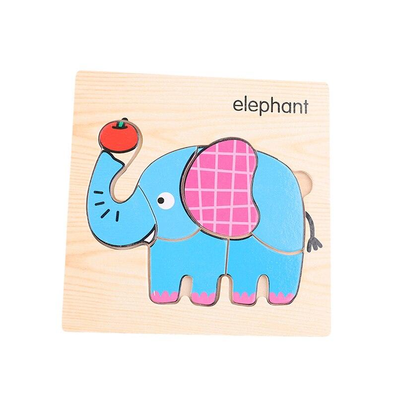 Let'S Make 1 шт. игрушки Монтессори квадратный деревянный пазл мультфильм Ранние развивающие детские игрушки деревянный пазл, игрушки - Цвет: 12