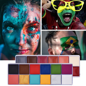 Body Art Oil Painting Face Paint Halloween Makeup Set Special Effects Stage Makeup Fake Blood Body Paint Henna Tattoo Waterproof