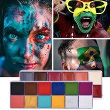 Körper Kunst Ölgemälde Gesicht Malen Halloween Make-Up Set Spezielle Effekte Bühne Make-Up Tattoo Henna Gefälschte Blut Körper Malen Wasserdicht