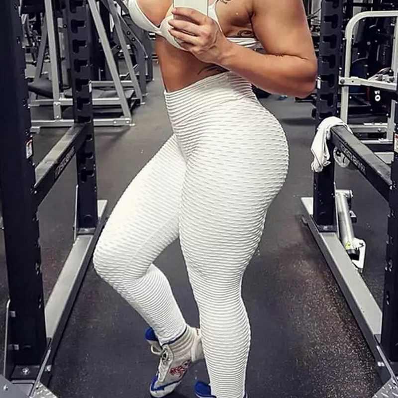 섹시한 여성 레깅스 슬림 피트 니스 바지 레깅스 체육관 의류를 밀어 높은 허리 Mujer 레깅스 운동 긴 바지 브랜드 2020
