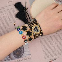 XUXI 2020, Women, Ethnic Style, Wide, Bracelet, Female, Simple, Eyes, Japan, Rice Beads, Handmade, Woven, Love SS024