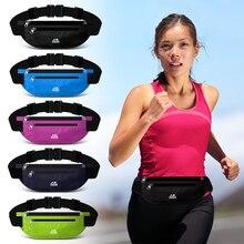 Wateproof Double Zipper Pocker Running Bag Fitness Waist Pac