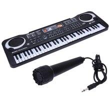 61 klawiszy cyfrowa muzyka klawiatura elektroniczna klawiatura fortepian elektryczny prezent dla dzieci ue wtyczka