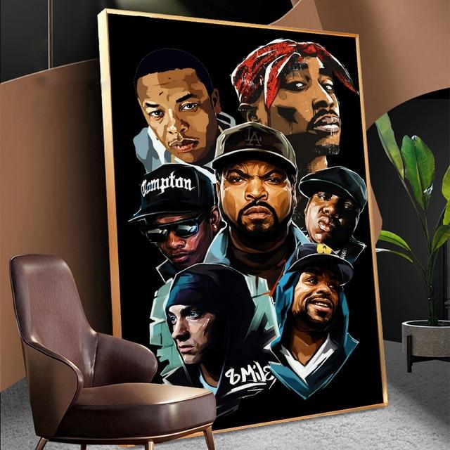 West Coast Hip Hop Tupac Music Poster 4