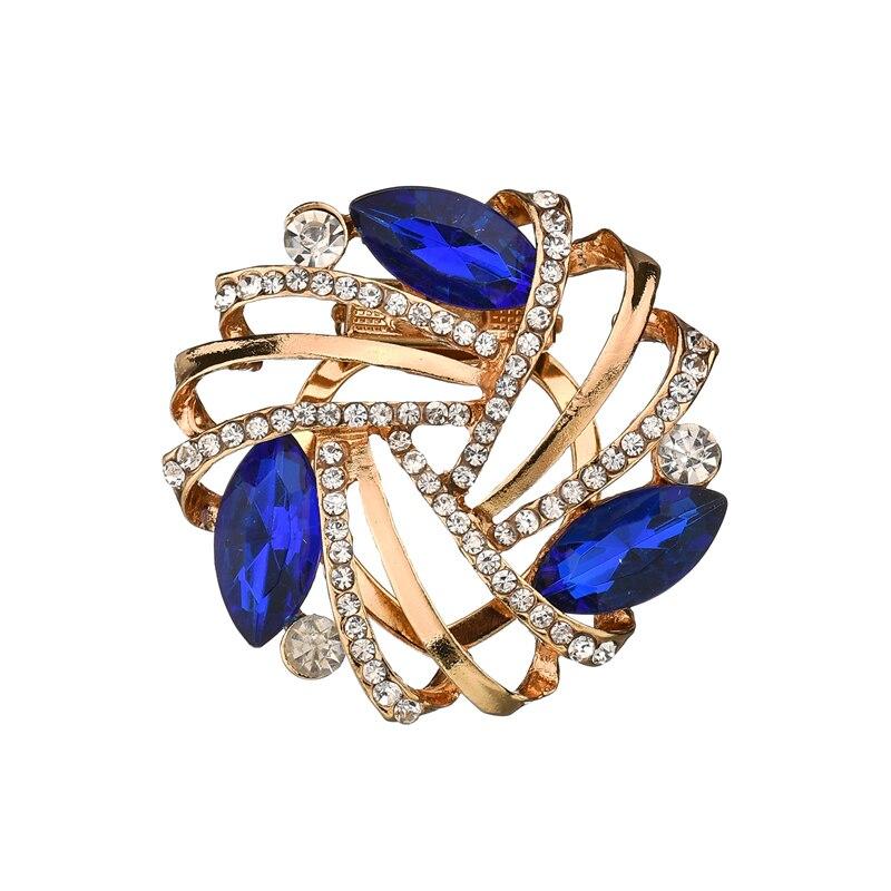 Gariton Luxurious Fashion Sweet Zinc Alloy Rhinestone Scarf Buckle Clothing Accessories Female Christmas Gifts