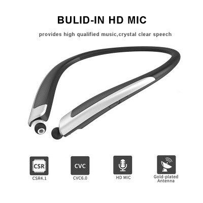 HuanYun Bluetooth sans fil écouteur bande de cou basse en cours d'exécution Bluetooth casque Sport stéréo sangle de cou HIFI casque avec micro