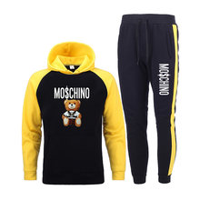 New Brand Casual Tracksuit Men Sets Hoodies+Pants Two Piece Sets print Hooded Sweatshirt Outfit Sportswear Male Suit Clothing