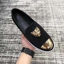 2019 New Big Size shoes men Slip on Men's