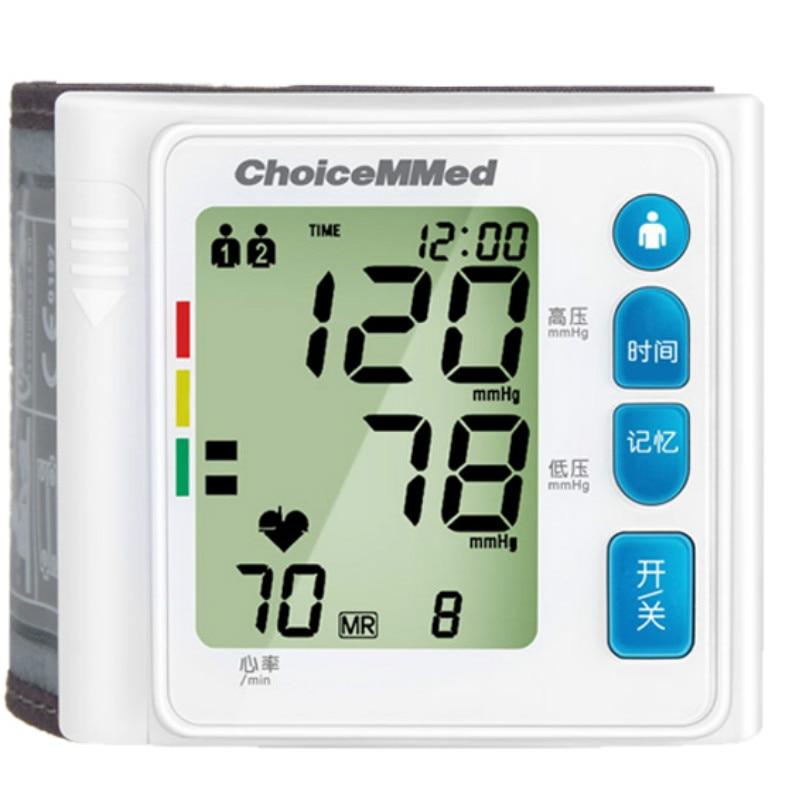 Electronic heart blood pressure mechinne tensiometro digital monitor wrist precision intelligent automatic device