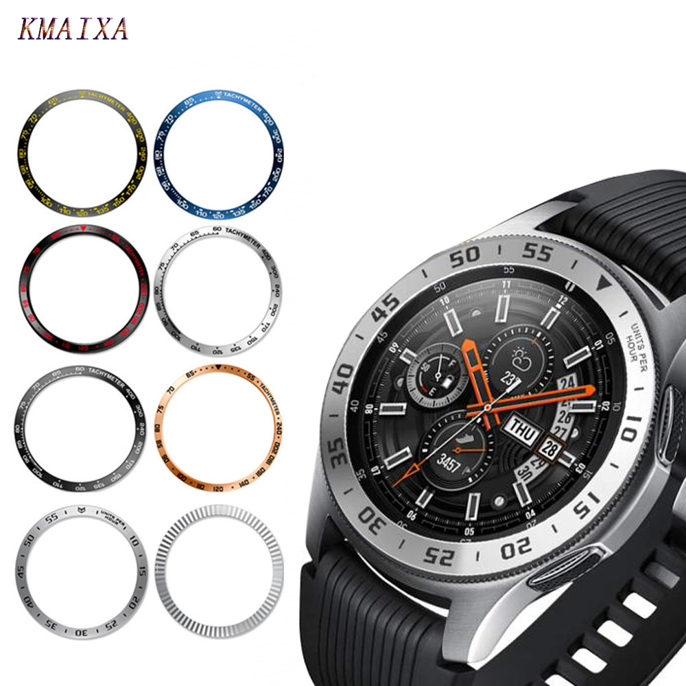 Metal cover For Samsung Galaxy Watch 46mm/42mm Gear S3 Frontier/Classic Ring Adhesive Anti watch accessories watch strap Cover