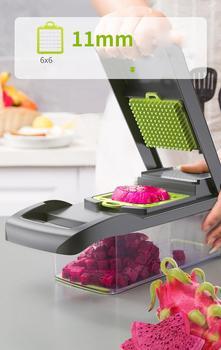 Multifunctional Vegetable Dicing Machine Set 7 In 1 Diced Potato Fruit Shredding Slicer Grater Home Kitchen Gadget Shredder Tool