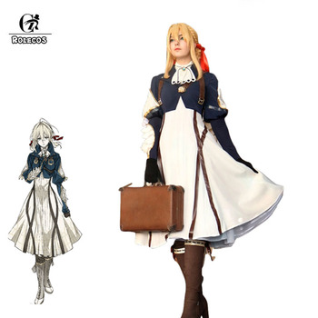 ROLECOS Anime Violet Evergarden Cosplay Costume Violet Evergarden Costume White Dress for Women Cosplay Costume Full of Sets fire emblem path of radiance ike cosplay costume