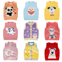 Vest Clothing Knitted-Cardigan Girls Baby Boys Jacket Animal Cotton for 1-3year Sweaters