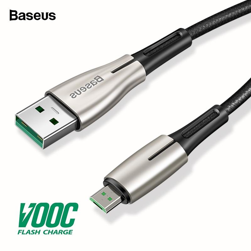 Baseus Micro USB кабель VOOC 4A Flash Charge для OPPO MicroUSB кабель 2A зарядное устройство для samsung huawei Android кабель мобильного телефона 2 м