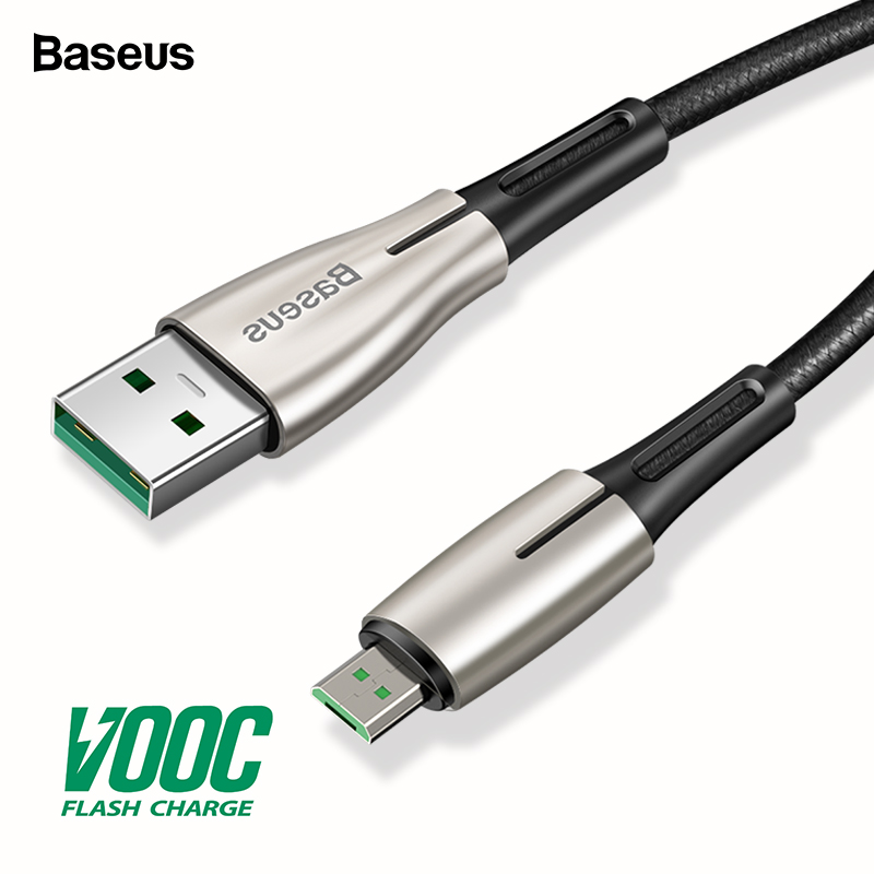 Baseus Micro USB Cable VOOC 4A Flash Charge For OPPO MicroUSB Cable 2A Charger For Samsung Huawei Android Mobile Phone Cable 2m-in Mobile Phone Cables from Cellphones & Telecommunications on AliExpress