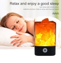 все цены на Crystal Light Salt Lamp Led Lamp Natural Himalayan USB Air Purifier Mood Creator Indoor warm light table lamp bedroom lava lamp онлайн