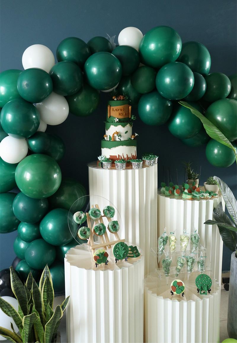 JAROWN Wedding Props Stage Multicolor Origami Round Pillar Three Piece Shopping Mall Decor Home Birthday Party Arrangement Decor (34)
