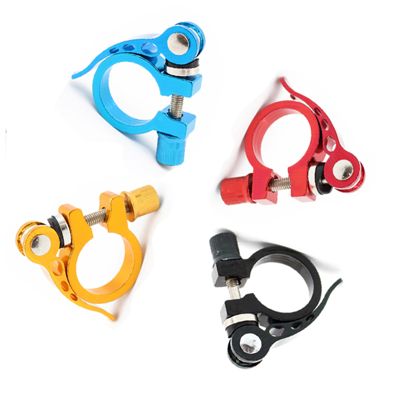 Aluminum Ultralight 31.8mm seatpost Clamp Quick Release MTB Road Bike Seat Post Tube Clip Bicycle Cycling Parts(China)