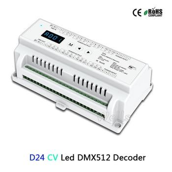 24 Channel CV Led DMX512 Decoder D24;DC5-24V input;3A*24CH PWM output led DMX512 RGB strip Decoder controller