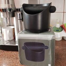 Caixa de batida de café de aço inoxidável espresso grounds recipiente de balde de resíduos durável café moagem lixo bin