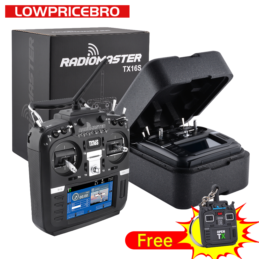 IN Stock RadioMaster TX16S Transmitter Remote Control TBS Crossfire Hall Gimbals 2.4G 16CH Multi-protocol OpenTX for RC Drone
