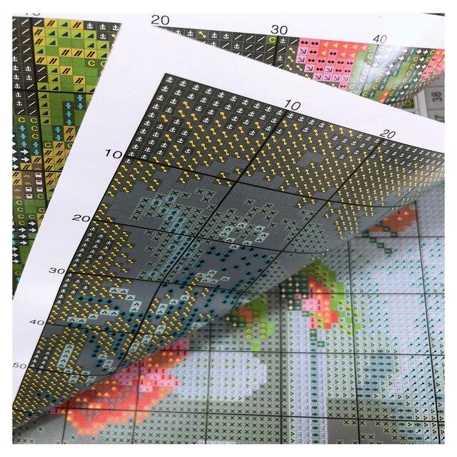 Broderie point de croix – oiseaux (différents modèles) 40x50cm 10
