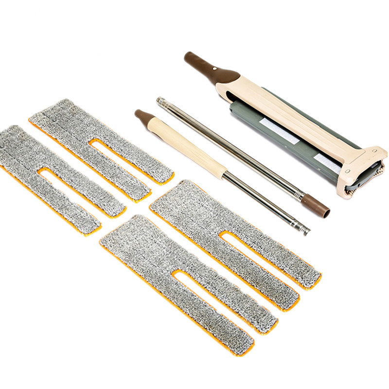Clean Double Sided Flat Magic Mop Telescopic Hand Push Sweepers Hard Floor Cleaner Lazy Vassoura Self-Wringing Ability