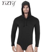 남성 원피스 긴 소매 프레스 가랑이 까마귀 바디 슈트 Romper Pajamas