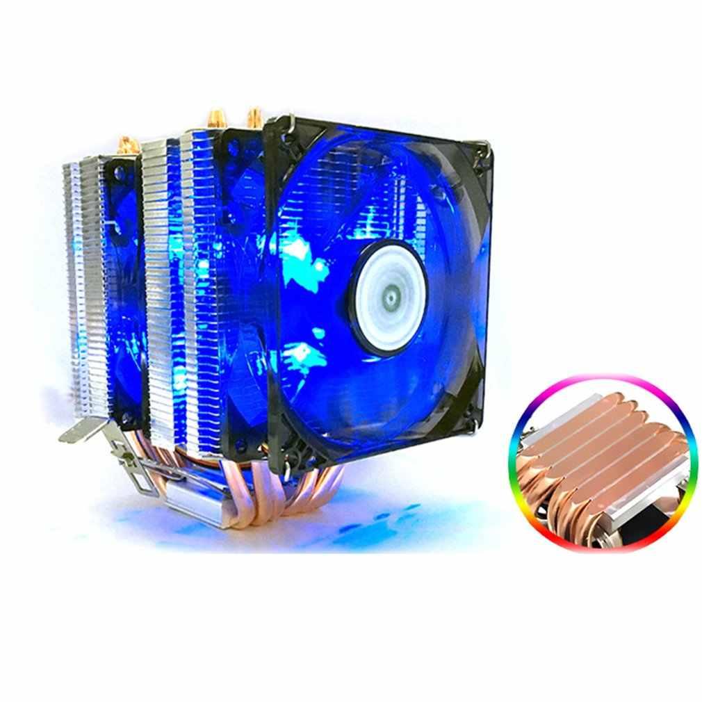 3 linie 6 rura cieplna radiator procesora AVC czysta miedź AMD 1155 1156 pulpit chłodzenie CPU do komputera stała prędkość pojedynczy podwójny wiatr