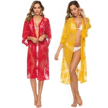 Sexy Lace Cardigan Pareo Beach Cover Up Bikini Swimsuit Bathing Suit Cover Ups Robe De Plage Beach Dress Tunic kaftan Swimwear pareo beach white cover up chiffon bikini swimwear women robe de plage beach cardigan bathing suit swimsuit long blouse dress