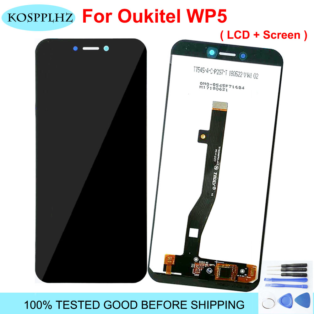 KOSPPLHZ For Oukitel WP5 PRO LCD Display + Touch Screen Digitizer Assembly 100% New Mobile Phone Replacement Parts + Tools Gift