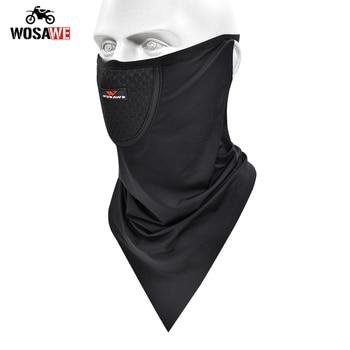 WOSAWE Motorcycle Face Shield Headgear Half-Face Mask Ski bivakmuts Inner Cap Bicycle Quick Dry Breathable Mask Motocross Mask