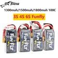 Татту FUNFLY 1300 мА/ч  1550 мАч 3S 4S 11 1 V 14 8 V 100C Lipo Батарея с XT60 разъем для FPV 250 230 210 180 Размеры Drone