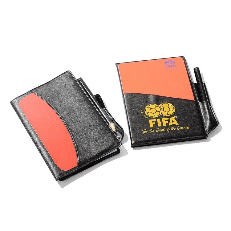Красная желтая флуоресцентная тарелка-футбольная красная Желтая Карточка с кожаным чехлом, чехол для рефери, только для рефери