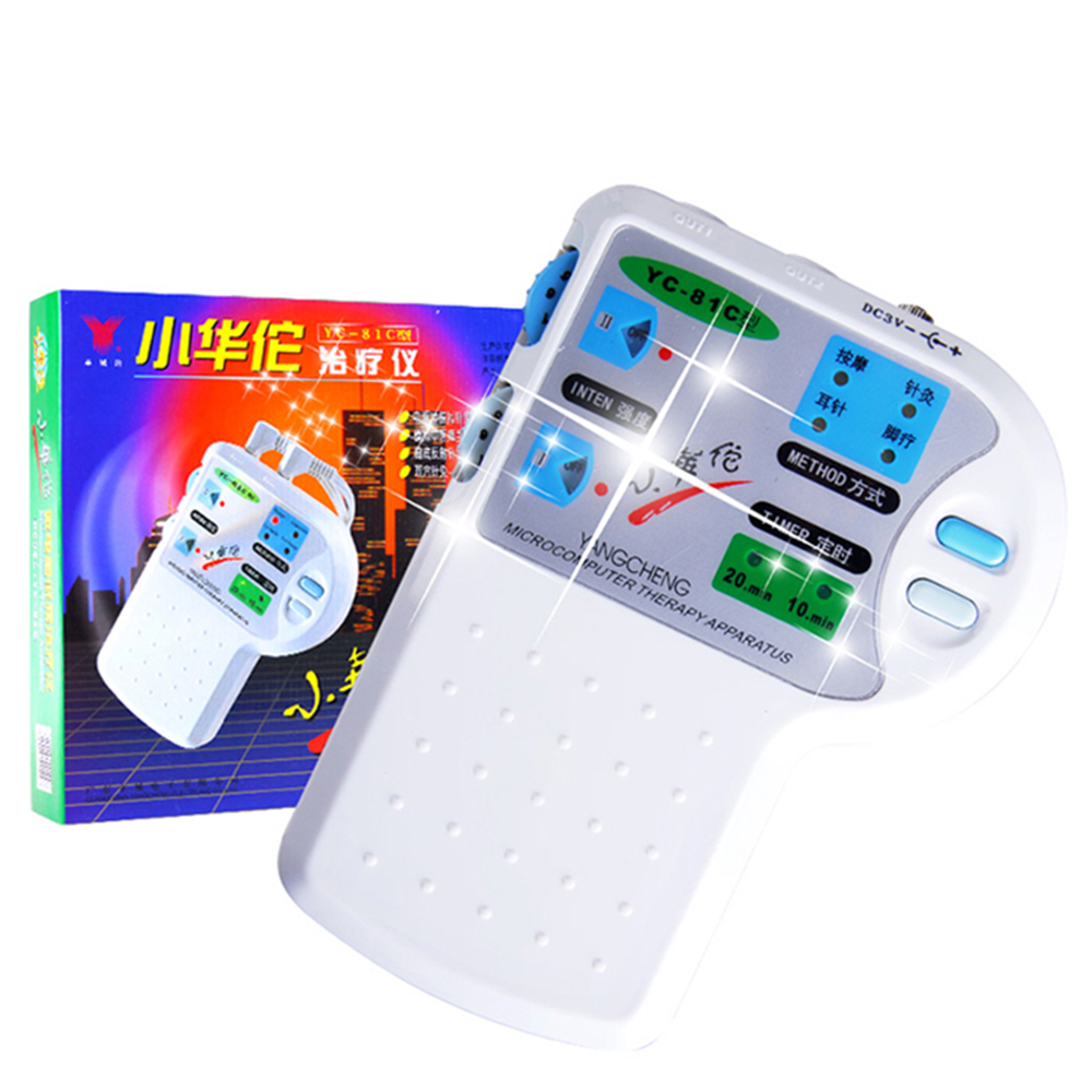 Appareil de thérapie par micro-ordinateur à YC-81C, résultat rapide, thérapie électrique, appareil d'acupuncture, instruction en anglais