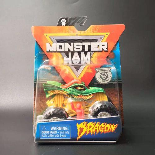 1: 64 оригинальные горячие колеса гигантские колеса Crazy Barbarism Монстр металлическая модель грузовика игрушки Hotwheels большая ножная машина детский подарок на день рождения - Цвет: Dragon Monster Jam