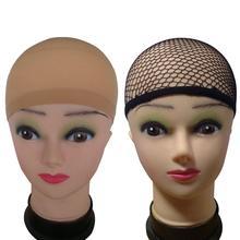 3 шт. Модные женские нейлоновые Высокие эластичный чулок парик на сетке шапки для волос сетка дамы эластичный парик шапки
