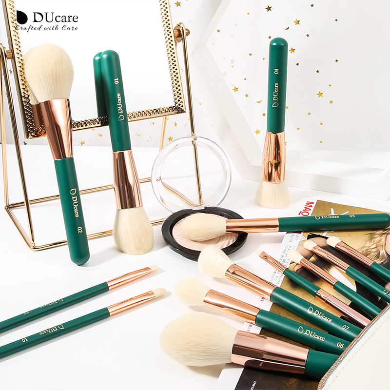 Image 4 - DUcare 13Pieces Makeup Brushes Set Eye Shadow Foundation Powder Eyeliner Eyelash Lip Make Up Brush Cosmetic Beauty Tool Kit HotEye Shadow Applicator   -