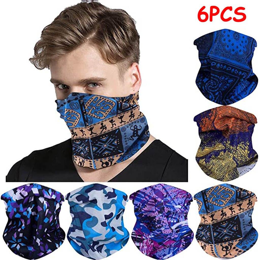 6 PCS Magic Scarf Women Men Outdoor Headwear Bandana Sport Tube UV Face Workout Hiking Neck Scarf High Quality