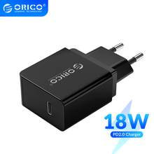 ORICO PD chargeur rapide 18W USB Type C chargeur Mini chargeur mural Portable pour iPhone 11Pro Max xiaomi Huawei