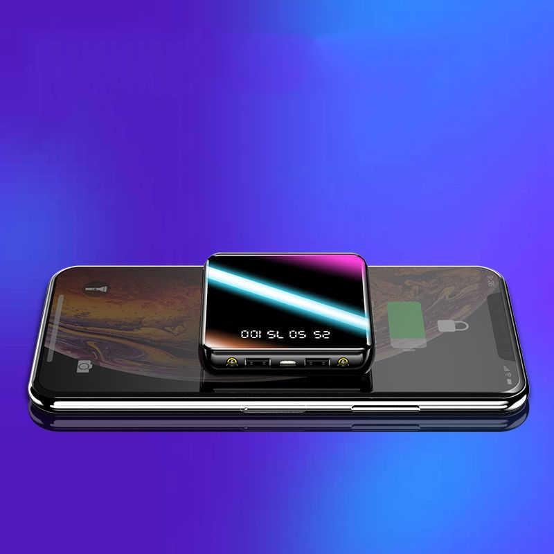 2020 nuovo Mini Accumulatori E Caricabatterie Di Riserva 30000mAh Fast Charger 2 USB LCD Powerbank Portatile di Ricarica Accumulatori E Caricabatterie Di Riserva Per Tutti gli smartphone