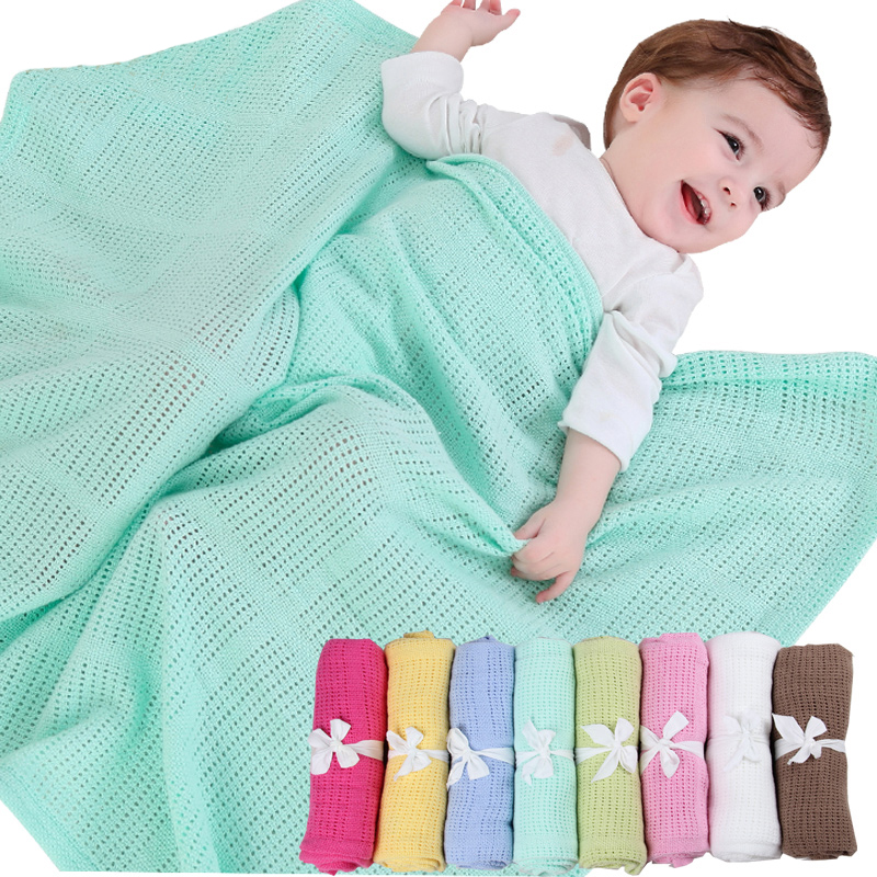 Baby Summer Cotton Blankets Candy Colors Infants Travel Blankets Newborn Baby Bedding Swaddle Toddler Photography Prop 70*90cm