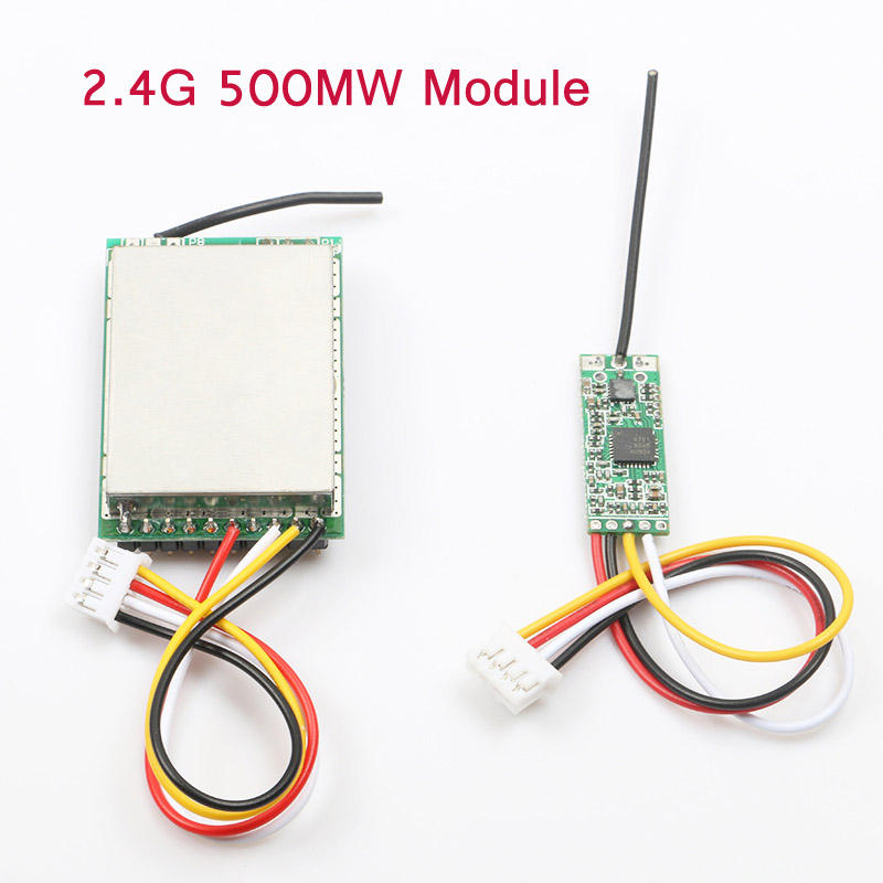 2.4G 500MW Wireless Transmission Transmitter&Receiver Module Kit Audio And Video Board 3.7-5.5V Parts For RC FPV Drone