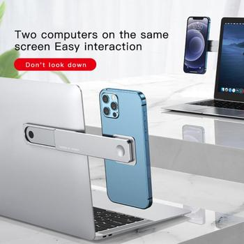 1pc Newest Multi Screen Support Laptop Side Mount Connects Mobile Phone Bracket Monitor Clip Stretching Phone Stand Holder