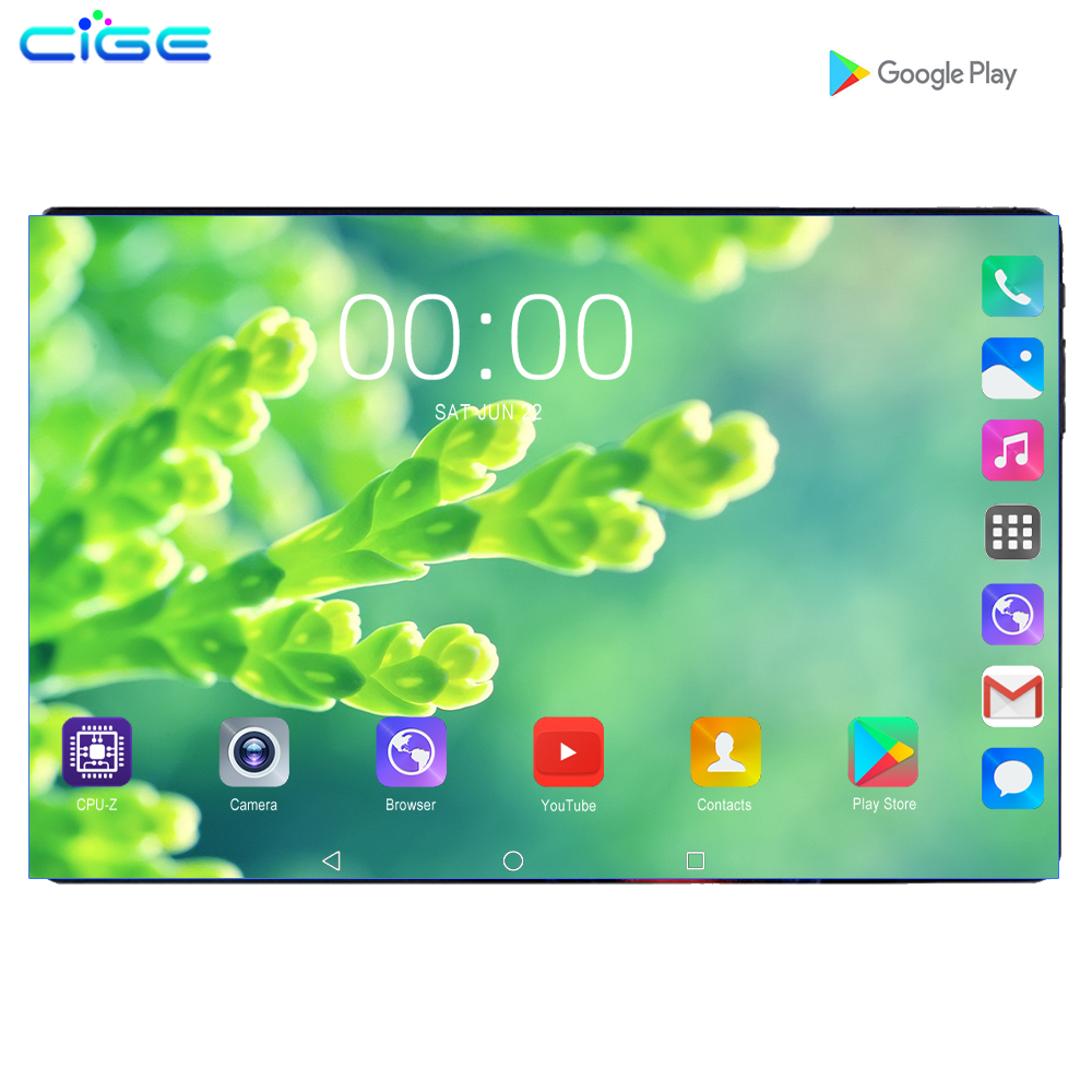Mx960 10 Inch Android 9.0 Tablet 6GB RAM 128GB ROM Octa Core Dual Cameras 8.0MP 1280x800 IPS Phone Call Tablets Pc 10.1+Gifts
