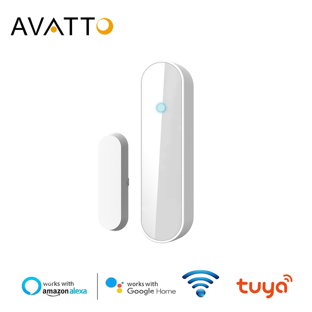 AVATTO Tuya Smart Wireless Door Window Sensor, WiFi Door Detector Compatible With Alex ,Google Home IFTTT For Smart Home