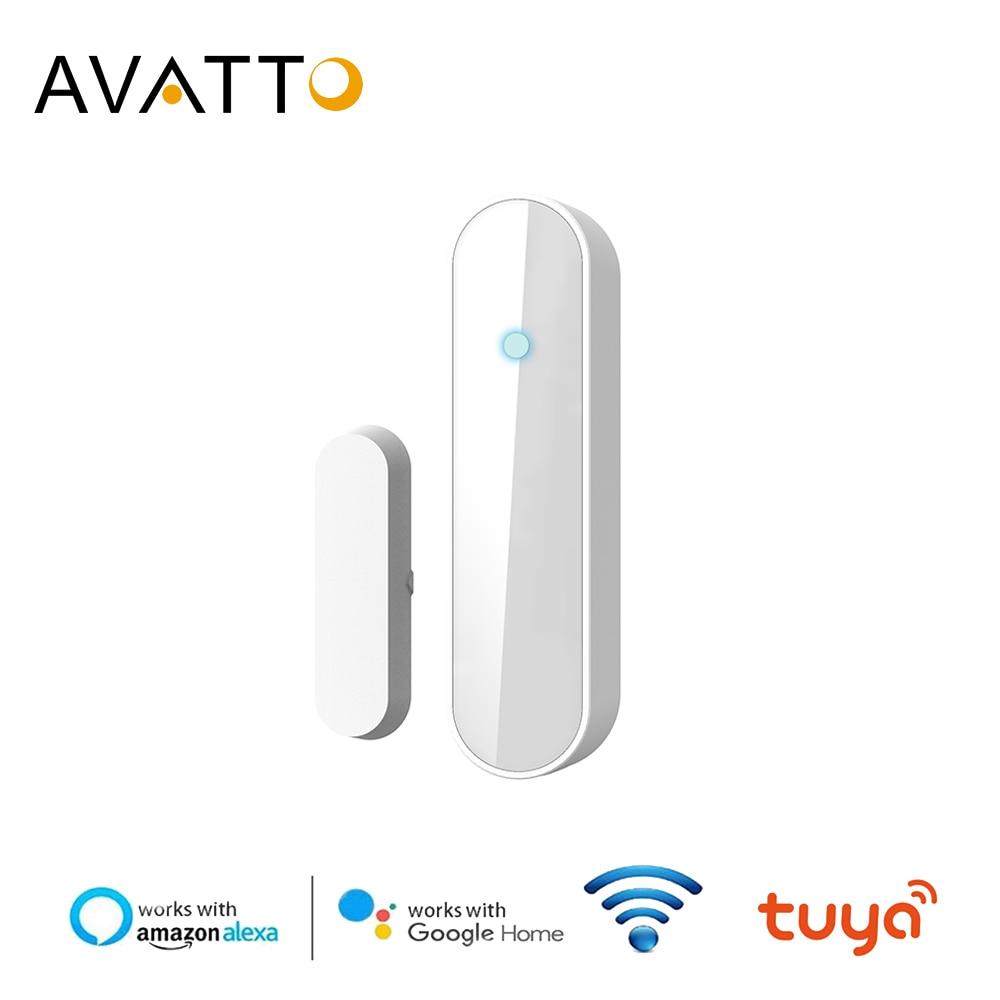 AVATTO Tuya Smart Wireless Door Window Sensor, WiFi Door Detector Compatible With Alex ,Google Home IFTTT For Smart Home