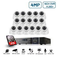 16CH 5MP NVR Kit Camera Quan Sát Hệ Thống An Ninh Ngoài Trời 5MP 4MP 2MP Âm Thanh HD Camera Vandalproof P2P Giám Sát Bộ 4TB